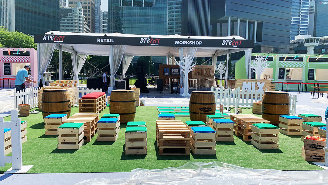 Strongbow-Singapore-Food-Festival-2019_Activation-setup