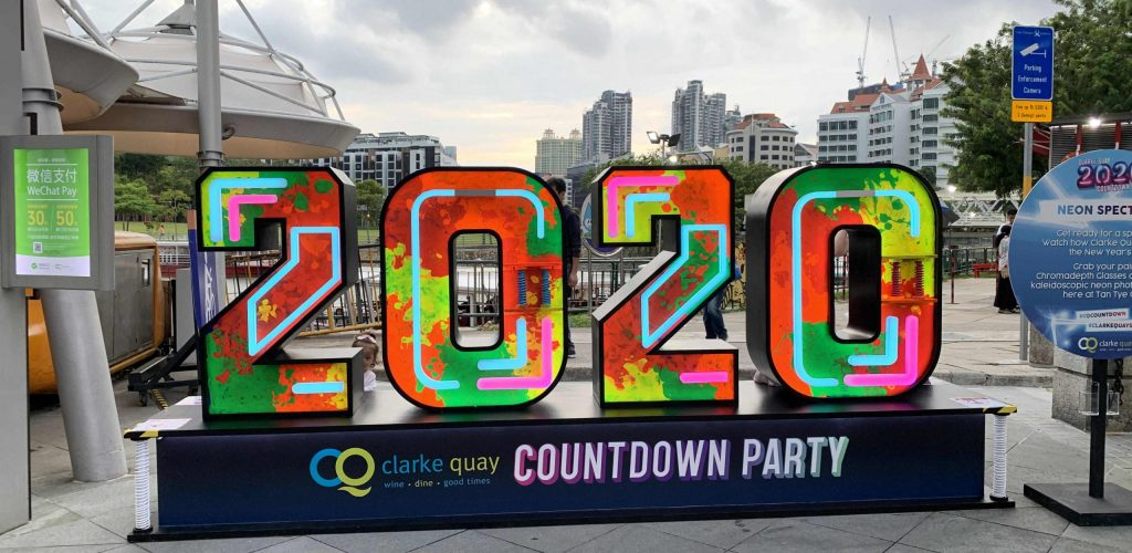Clarke Quay Countdown 2020_photowall day