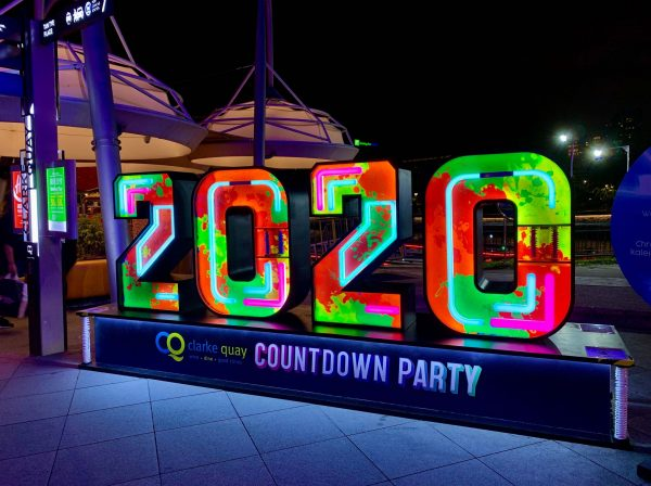 Clarke Quay Countdown 2020_photowall night